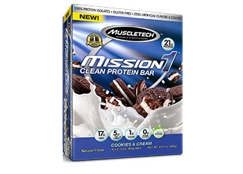 Mission1 Clean Protein Bar <br />Cookies and Cream
